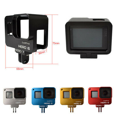 Aluminium Alloy Cage Housing Frame Case Cover with Backdoor for GoPro Hero 7 6 5