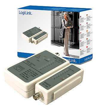 LogiLink WZ0011 Cable tester for RJ45 and BNC with remote unit
