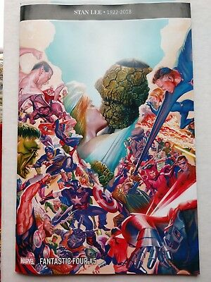 Fantastic Four #5 (Leg. #650) 1:100 beautiful Incentive Variant by Alex Ross!