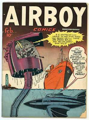 """Airboy V5 #1 VG- 1948 """"strict grading"""" and """"1 day shipping"""""""