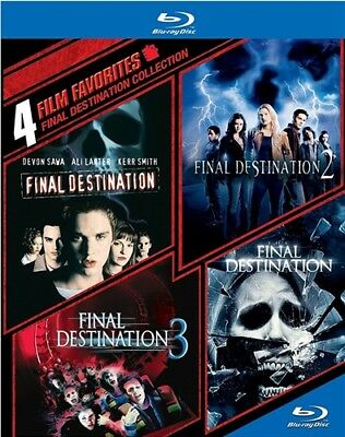 4 FILM FAVORITES FINAL DESTINATION COLLECTION New Sealed Blu-ray 1 2 3 4