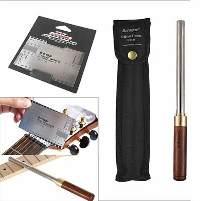 Baroque Guitar Fret File Repair Luthier Tool Crowning & Action Gauge Ruler Scale