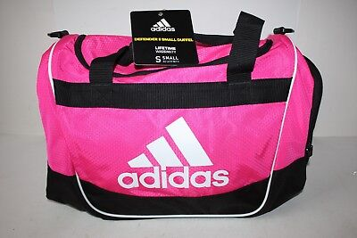 112aceb68c Adidas Defender II Small Duffel Bag Shock Pink With Shoulder Strap NEW WITH  TAGS
