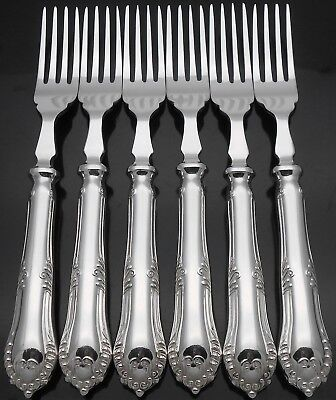 Chesterfield Pattern - James Dixon - 6X Fish Eater Forks - Silver Plated