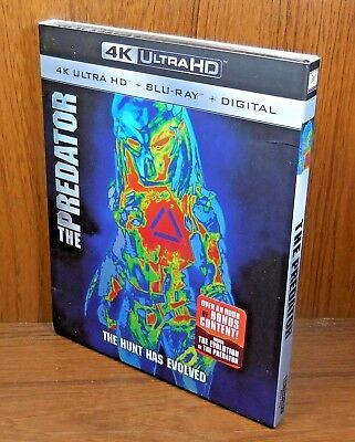 -NEW- The Predator 4K w/ Slip Cover (Blu Ray / Ultra HD, 2018)