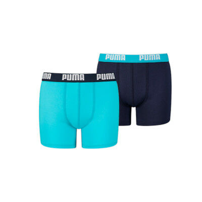 Puma Boys Basic 2-Pack Boxer Blue-140