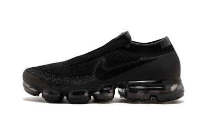 Nike Air Max Vapormax Flyknit Laceless BLACK NIGHT TRIPLE GREY AQ0581-001 sz 11