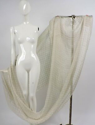Antique 1930'S Sheer Chiffon With Gold Lame Weave Fabric Old Stock