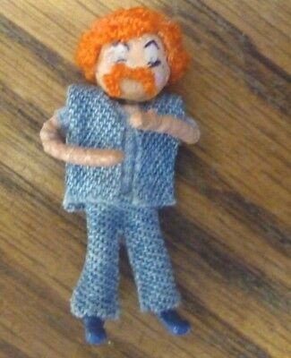 1/48 scale Dollhouse Miniature Red Head Man Hippy Wire-Formed Character Doll