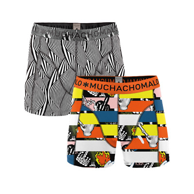 Muchachomalo boys 2-pack boxershort between the lines -158-164