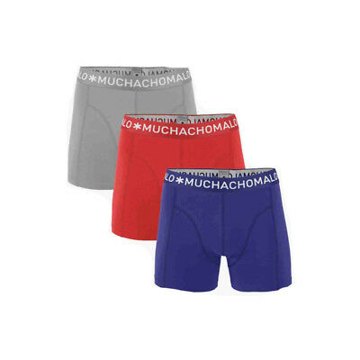 Muchachomalo 3-Pack Boxershorts Grey - Dark Blue - Bright Red-158-164