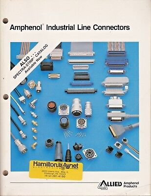 Amphenol 1986 Coax  Connector Catalog Industrial Line Connectors 370 pages