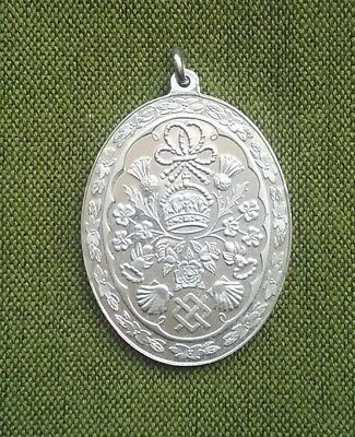 1981 English Prince Charles and Lady Diana Wedding Sterling Silver Medal Pendant