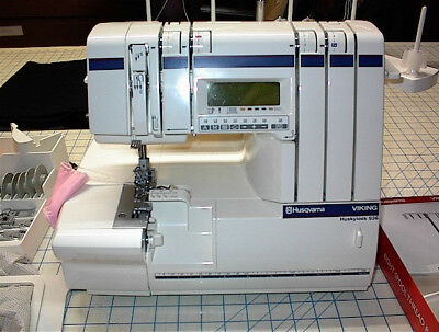 Viking Huskylock Sewing Serger 936 Used  With Cover Stitch Kit