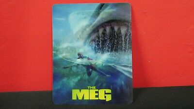 THE MEG  - 3D Lenticular Magnetic Cover Magnet for BLURAY STEELBOOK