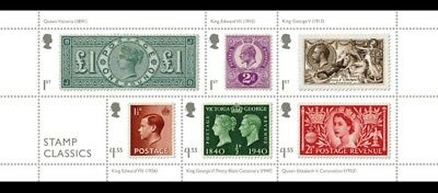 **BEST PRICE**. £8.50 G.B.STAMPS CLASSIC STAMPS Miniature Sheet.