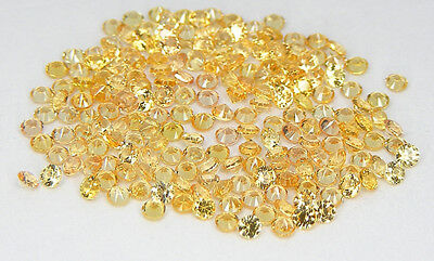 20 Pcs. Machine Cut 1,75 Mm. Saphir Jaune Corindon De Synthese