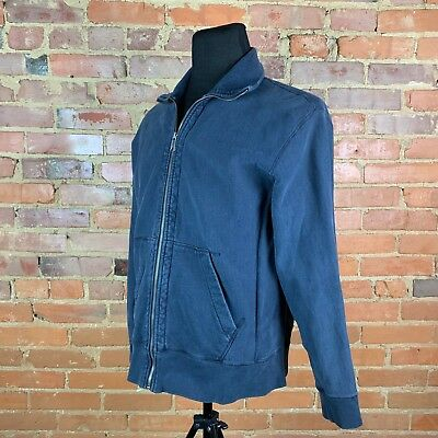J. Crew Mens Navy Blue LS Zipper Front Jacket M