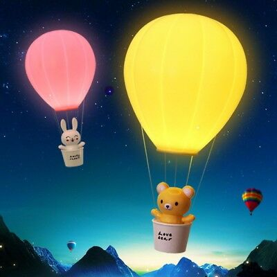 Novelty Dimming Hot Air Balloon Children Lamp LED Night Light Pink/0-5W