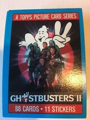 1989 Topps GHOSTBUSTERS 2 movie cards 88 card set with 11 sticker set