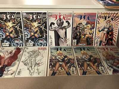 Jsa Classified 1 2 3 4 Adam Hughes Power Girl Sketch Variant Cover Signed Issues