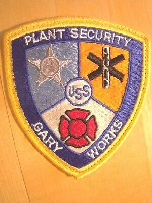 United States Steel USS Gary Works Plant Security Guard Patch Indiana