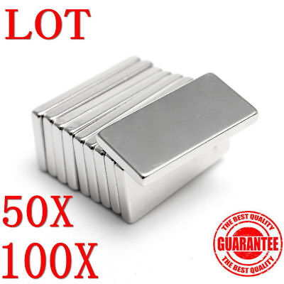 N50 Neodymium Block Magnet 20x10x2mm Super Strong Rare Earth Magnets LS