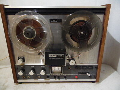 Vintage Teac 1250 Stereo Tape Deck Reel To Reel Recorder Auto Reverse 140W Japan