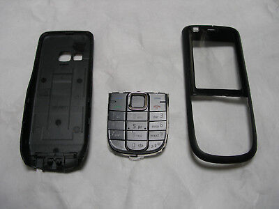 Nokia 3120c - Full Fascia Housing Cover Front Back Case Keypad Replacement Black