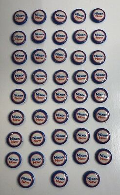 "Lot of 43 Vintage ""NIXON NOW"" Presidential Campaign Button Pinback PIN 1"""