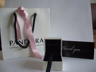 Genuine Pandora Gift Bag With Pink Ribbon And Charm Box With Thank You Card