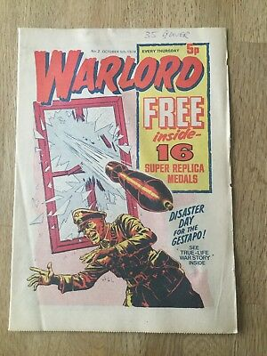 Warlord Comic. Number 2 5/10/74