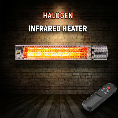 Outdoor Electric Infrared Patio Heater Halogen Tube 2.0kW Wall mounted + Remote