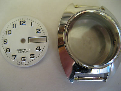 NOS case for ETA 2688 or 2671 with dial old stock not used
