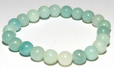 Bracelet en pierres naturelles perles d'amazonite 8 mm