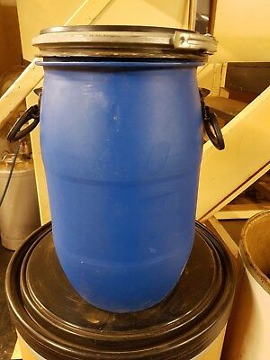 30L Litre Open Top Plastic Barrel, Keg, Drum.