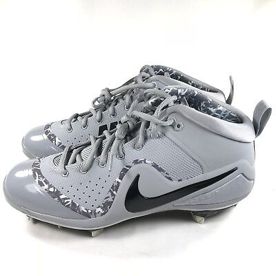47348c6d1e5f Nike Force Zoom Trout 4 Men s Size 9 Wolf Grey Black Baseball Cleats 917921  002