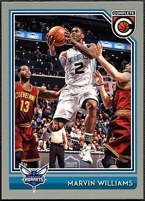 Marvin Williams Hornets #128 Complete Basketball 2016 Silver Parallel Card C2287