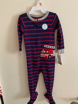 d21b8d2a0 CARTERS BABY BOYS 1-Piece Snug Fit Cotton Pajamas Fire Truck 12M ...