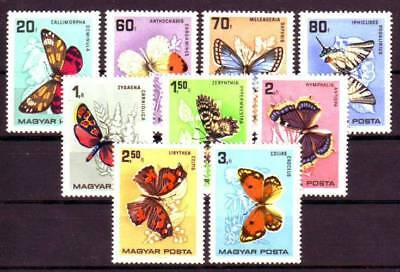 HUNGARY - 1966. Butterflies and Moths - MNH