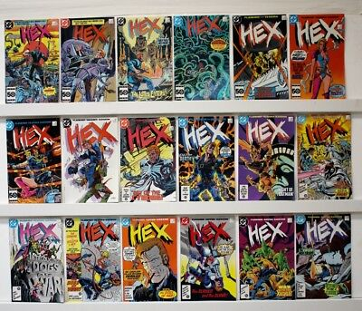 Hex  Lot of 18 comics  Straight run #1-18  1985  VF+ or better, many better, few