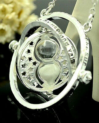 Harry Potter Silver Time Turner Pendant Disney Jewelry Witch Craft Occult Retro