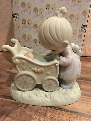 "Precious Moments ""Something Precious From Above"" Porcelain Figurine with Box"