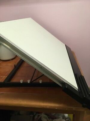 Drawing Board - White A2 Desk Top with parallel motion British Thornton
