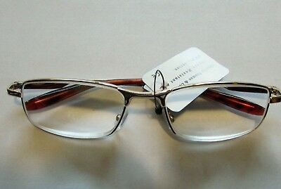 1 HIGH POWER READING GLASSES spring hinge frame Diopter Strong +7.0 Gold tone