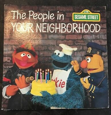 CTW 22092 Sesame Street Records THE PEOPLE IN YOUR NEIGHBORHOOD  LP 1980