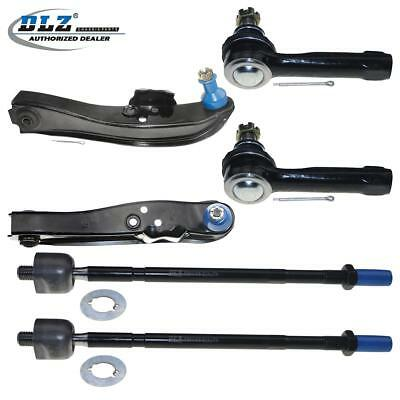 2 Front Lower Control Arm 2 Outer &2 Inner Tie Rod End for Nissan 240SX 89-94