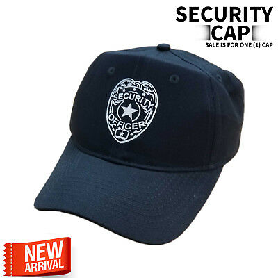 Security Cap Adjustable Security Hat Guard Officer One Size Fit adult Strap back