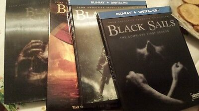 Black Sails complete series Seasons 1,2,3,4 DVD and Blue ray