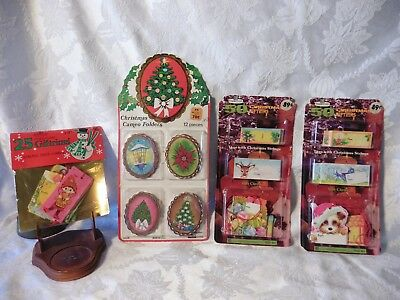 Vintage Papercraft Gift Trims Christmas Holiday Tags  New 70's ~80's Woolworths